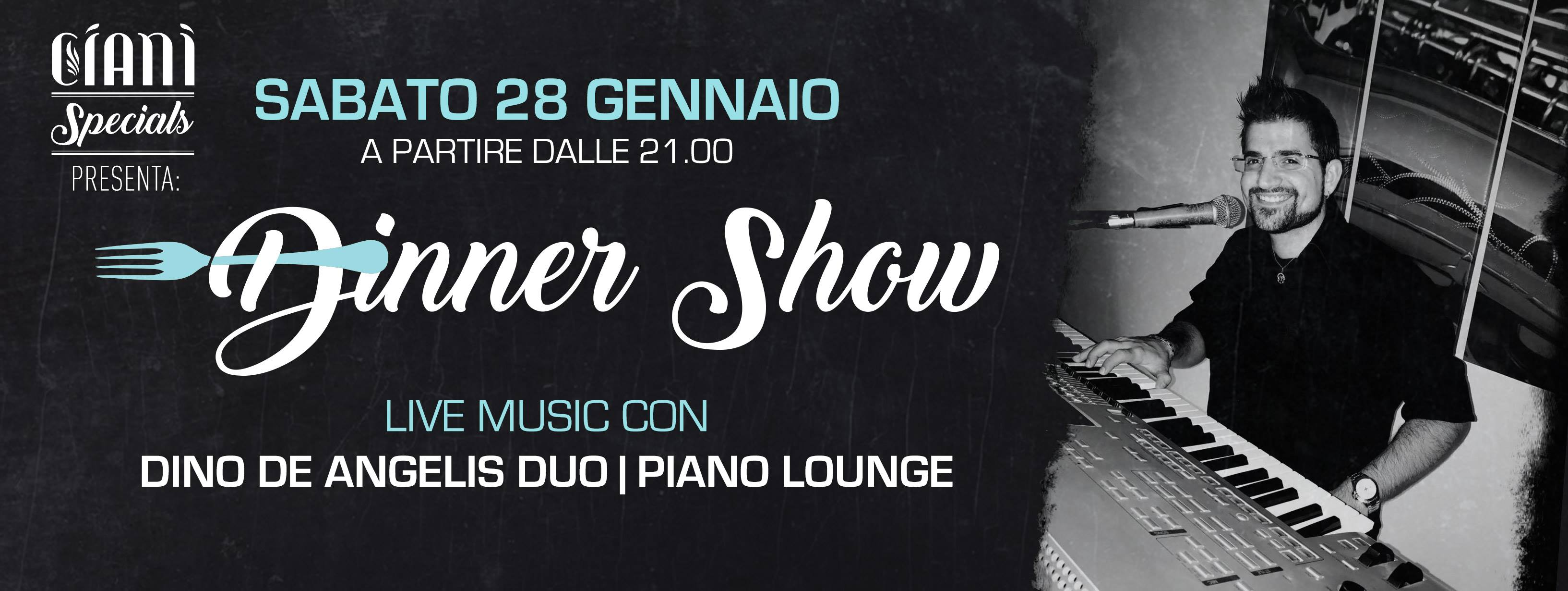 Dinner-Show: Live Music con Dino De Angelis Duo